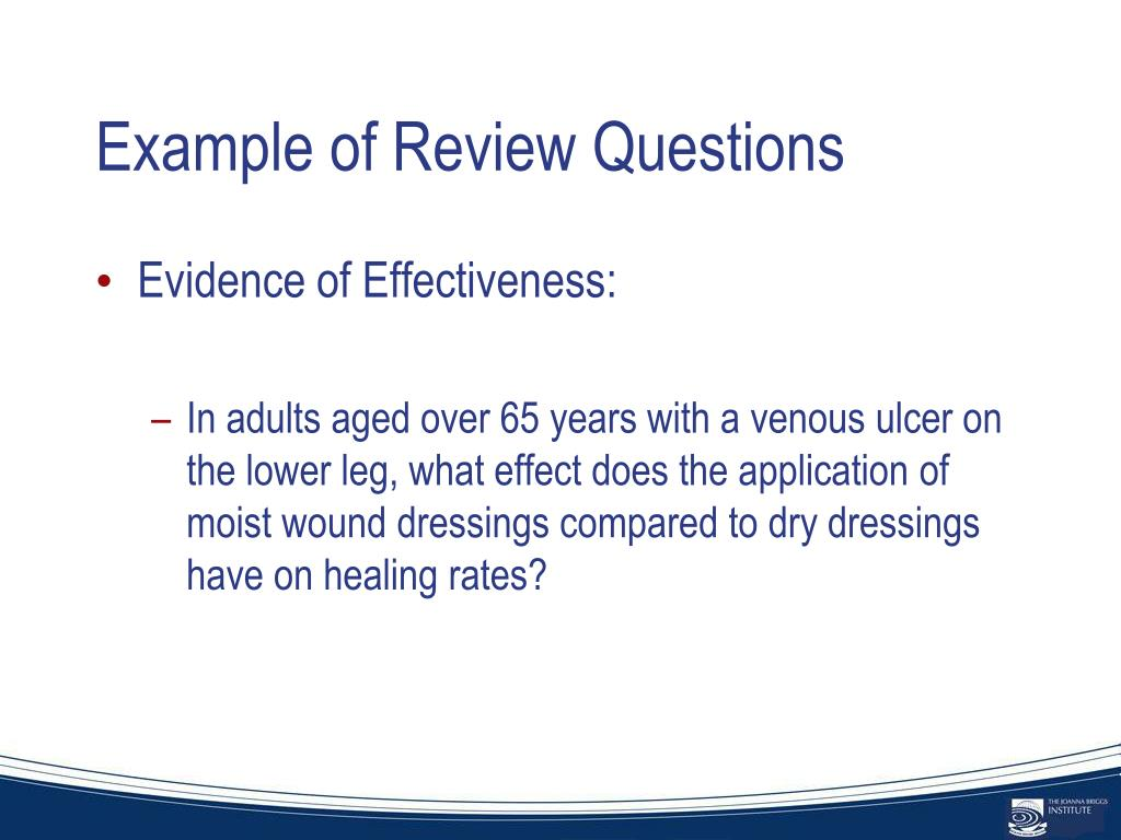 Example of Review Questions