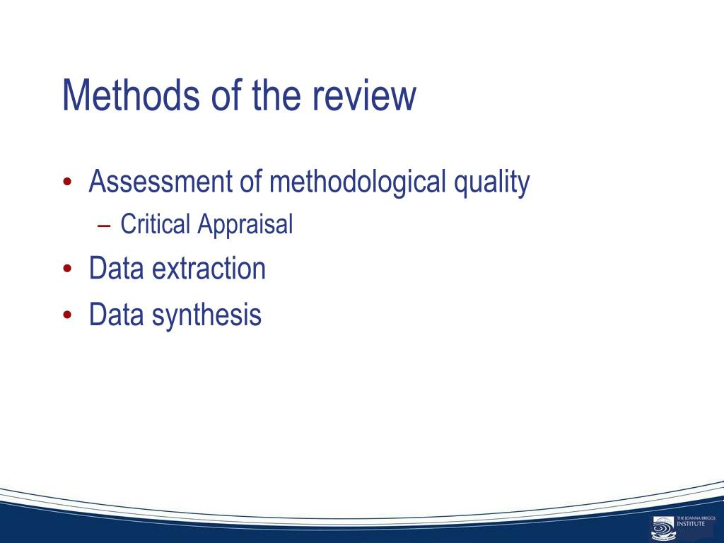 Methods of the review