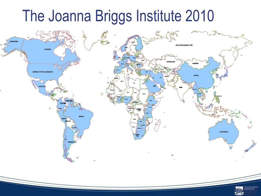 The Joanna Briggs Institute 2010
