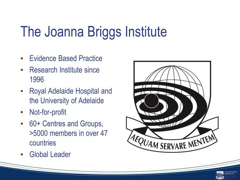The Joanna Briggs Institute