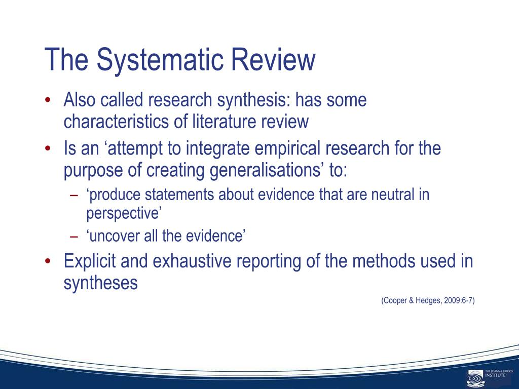 The Systematic Review