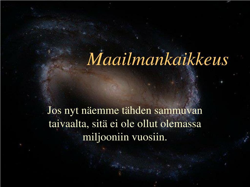 Maailmankaikkeus