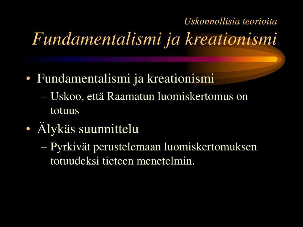 Uskonnollisia teorioita