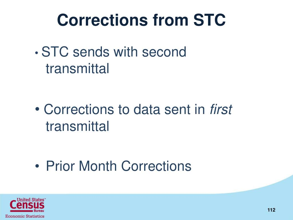 Corrections from STC