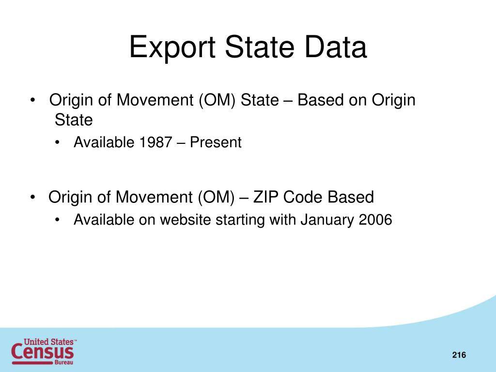 Export State Data