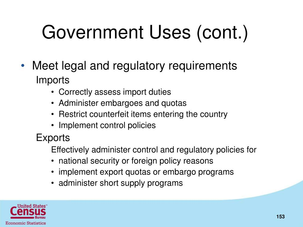 Government Uses (cont.)