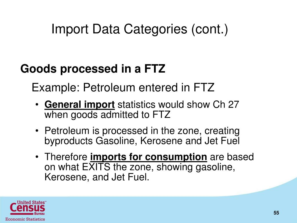 Import Data Categories (cont.)