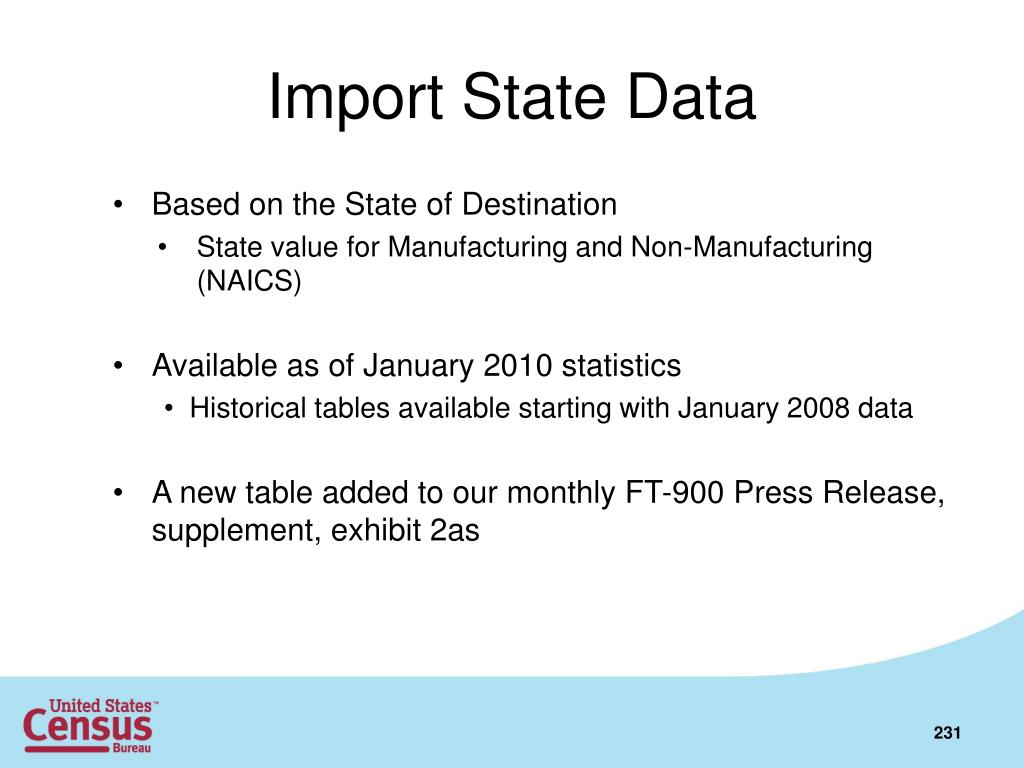 Import State Data