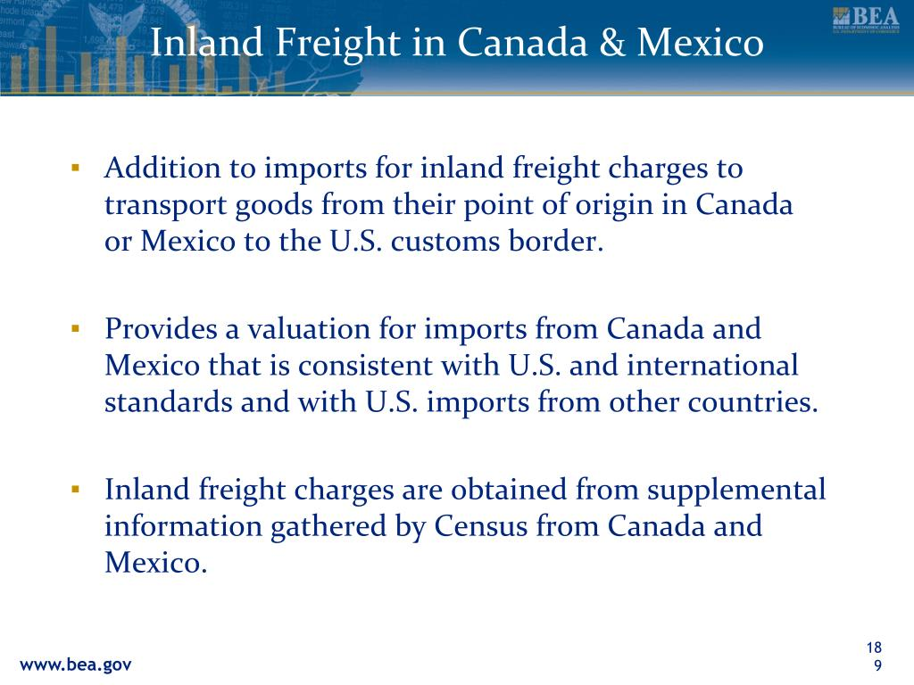 Inland Freight in Canada & Mexico