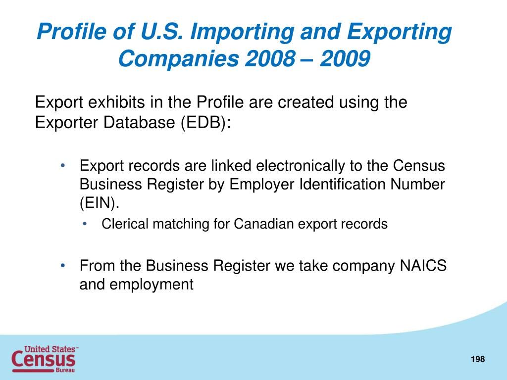 Profile of U.S. Importing and Exporting Companies 2008 – 2009