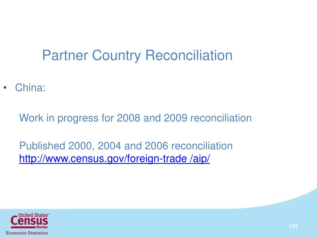 Partner Country Reconciliation
