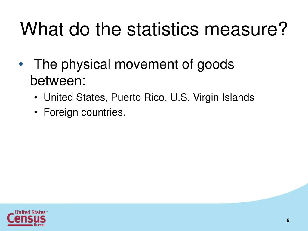 What do the statistics measure?