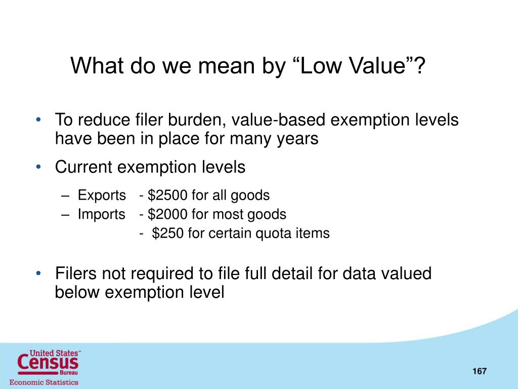"What do we mean by ""Low Value""?"
