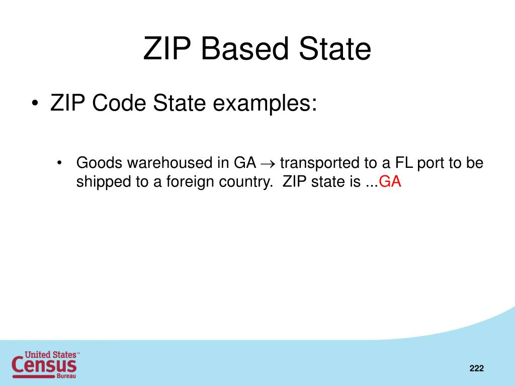 ZIP Based State