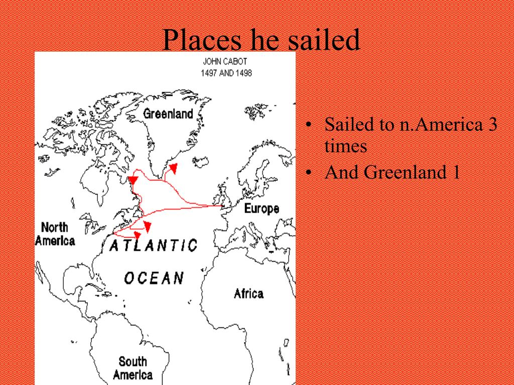 Places he sailed