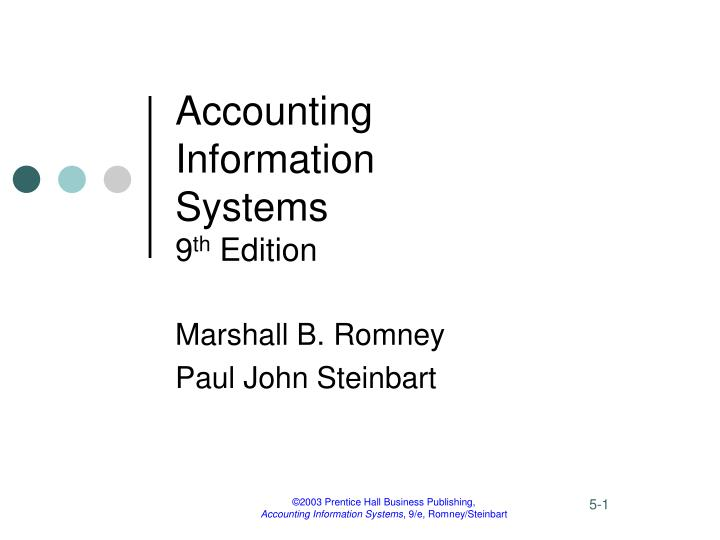 accounting information systems 9 th edition n.