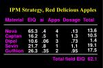 ipm strategy red delicious apples