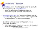 transparency discussion