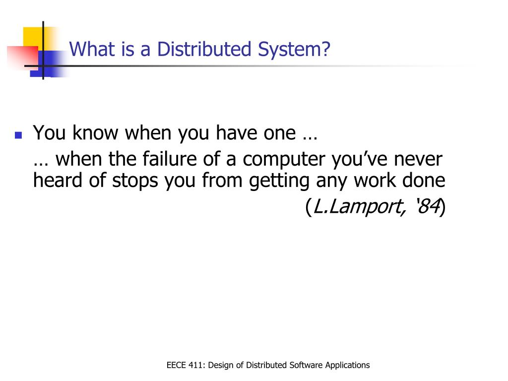 what is a distributed system l.