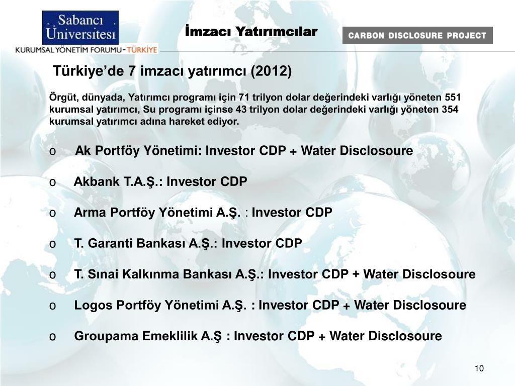 İmzacı Yatırımcılar