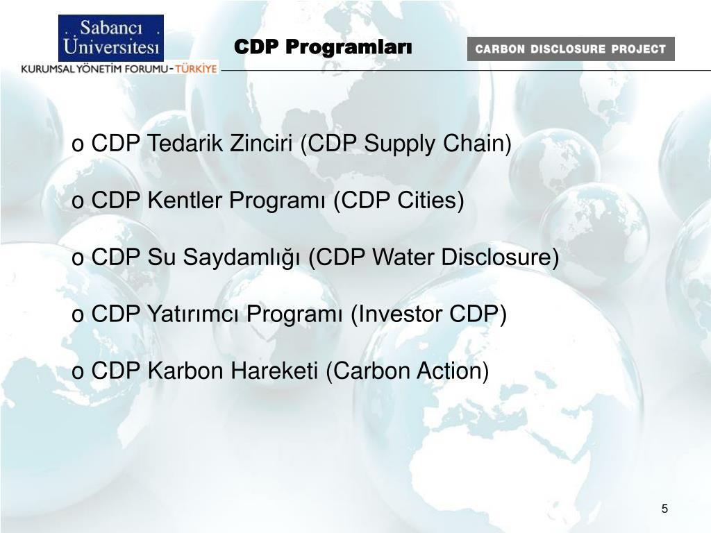 CDP Programları
