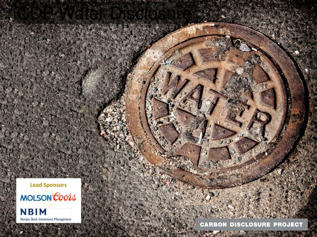 CDP Water Disclosure