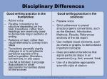 disciplinary differences