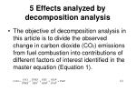 5 effects analyzed by decomposition analysis