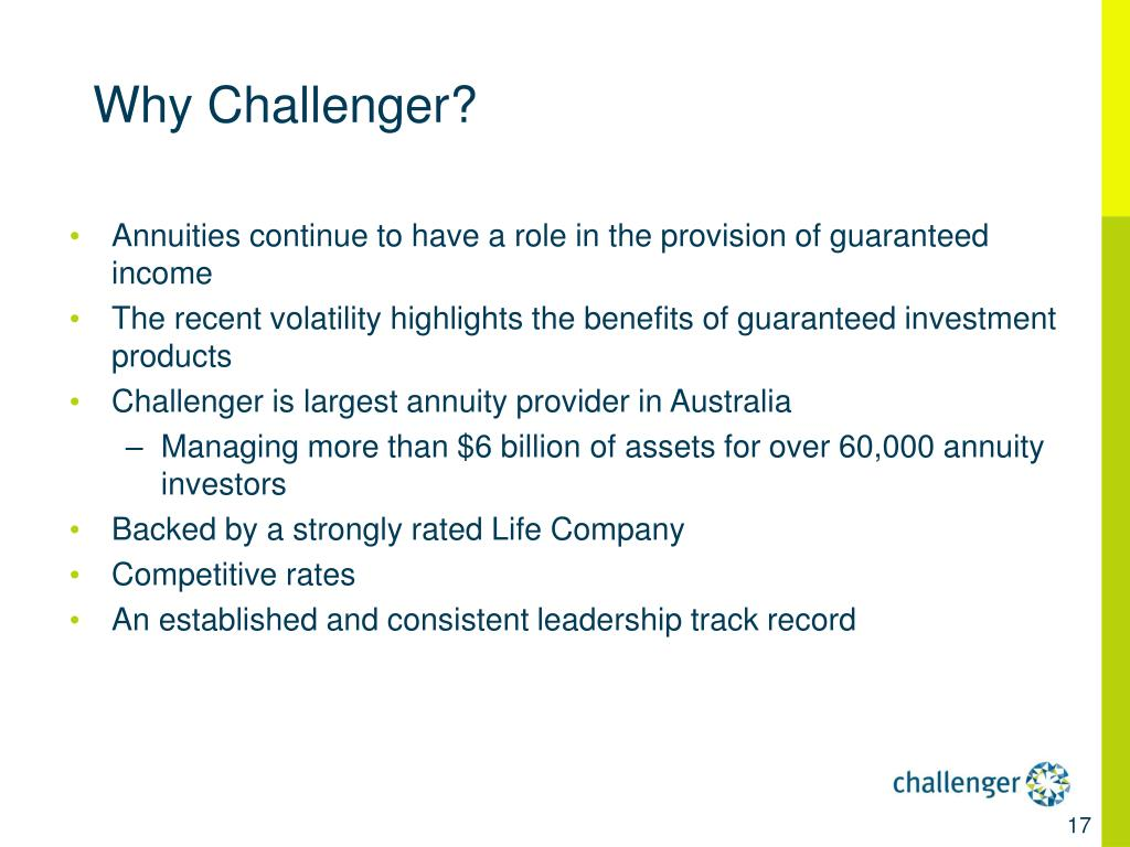 Why Challenger?