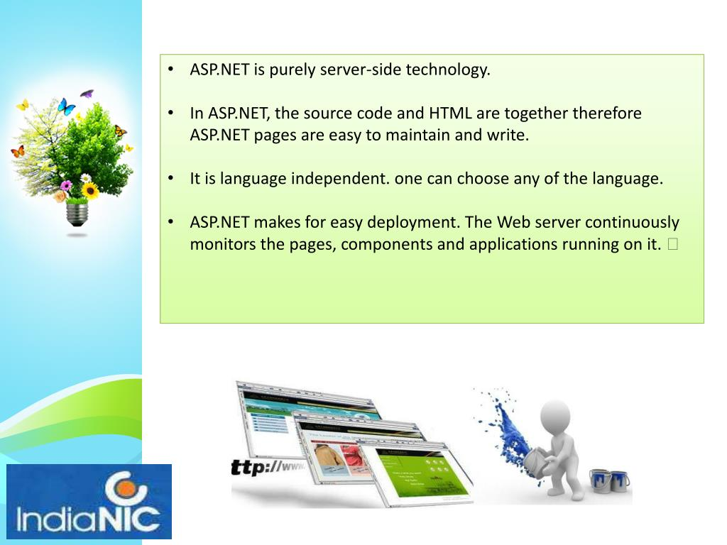 ASP.NET is purely server-side technology.