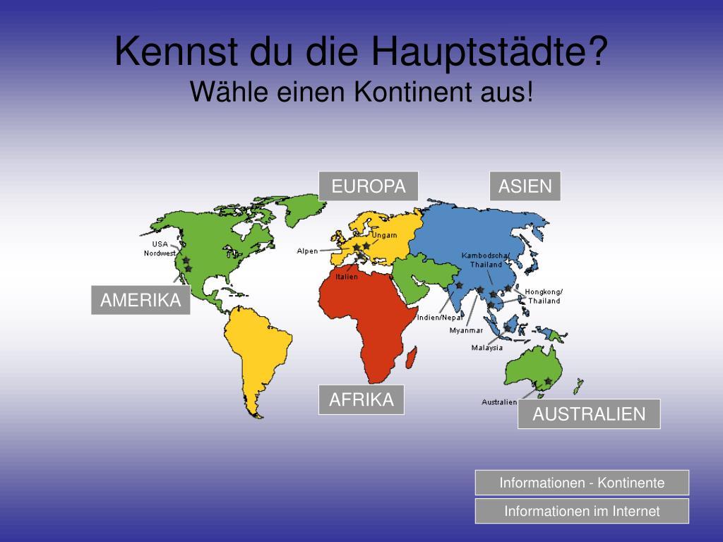 Kennst du die Hauptstädte?