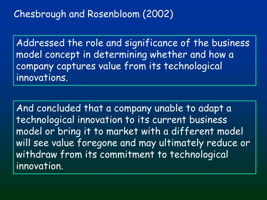 Chesbrough and Rosenbloom (2002)