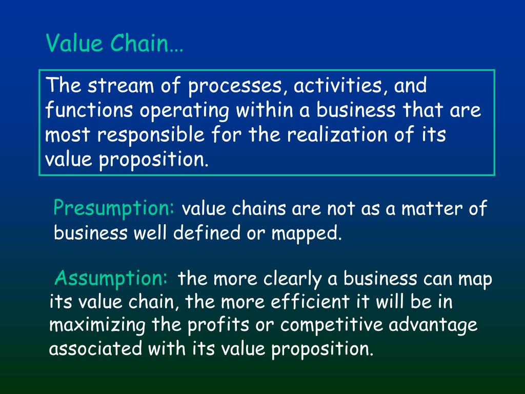Value Chain…
