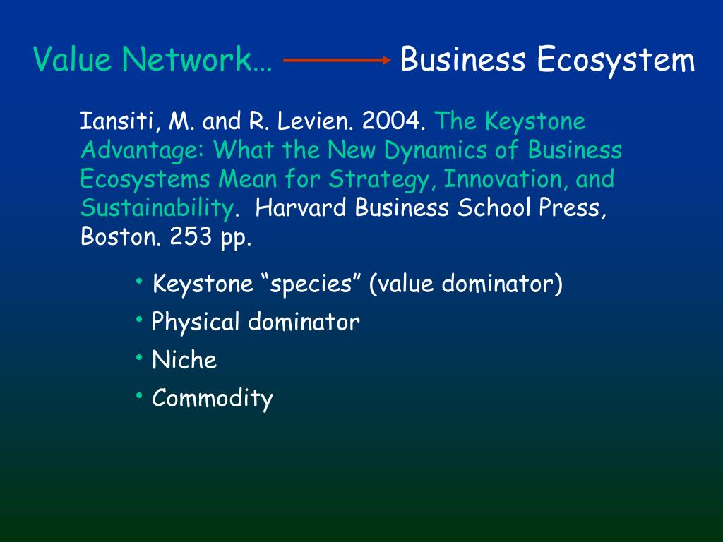 Value Network…