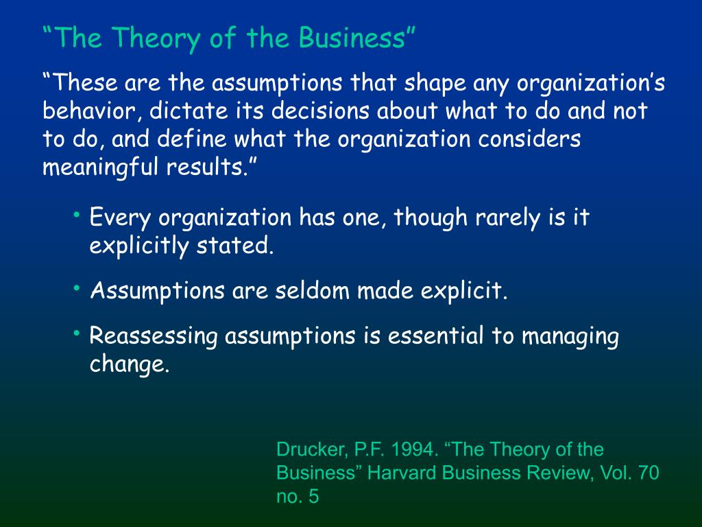 """""""The Theory of the Business"""""""