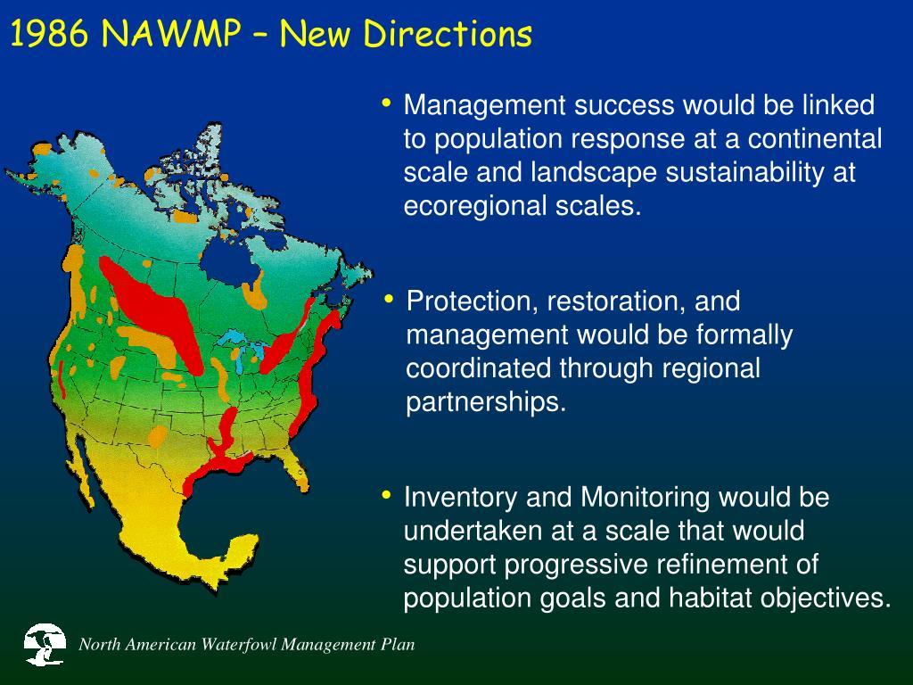 1986 NAWMP – New Directions