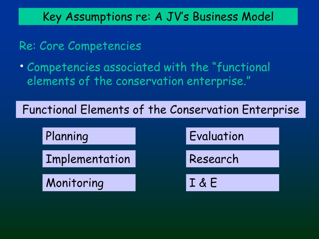 Functional Elements of the Conservation Enterprise
