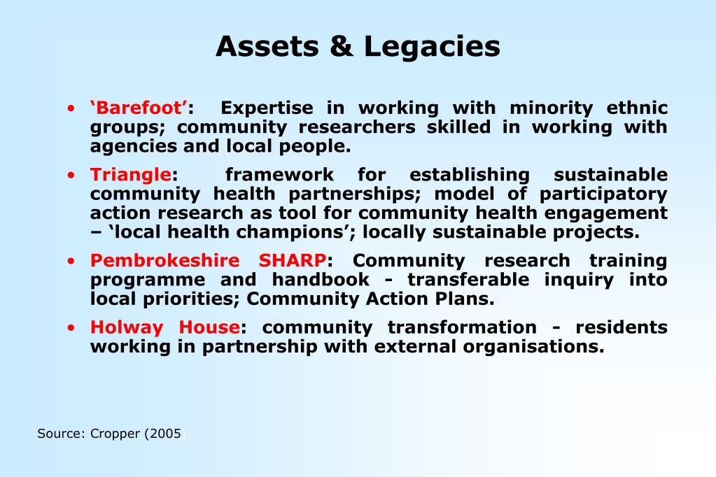 Assets & Legacies