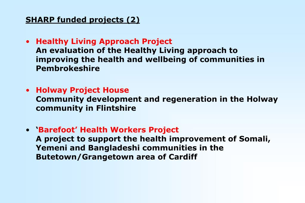 SHARP funded projects (2)