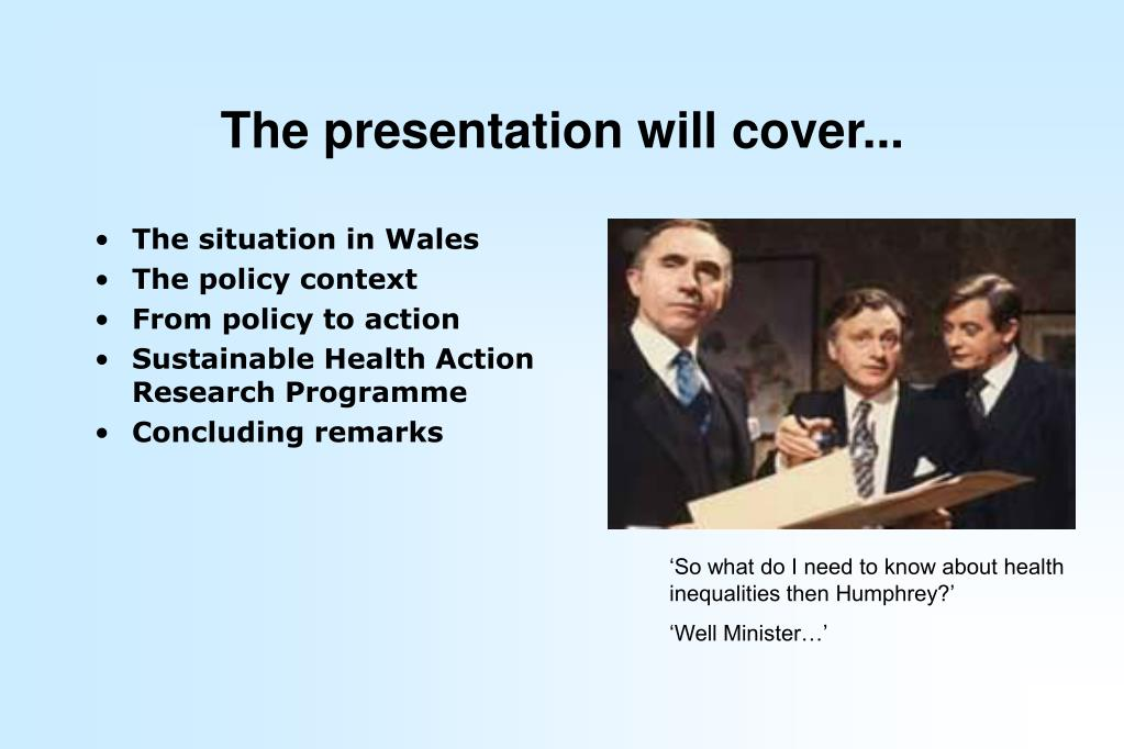 The presentation will cover...