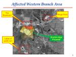 affected western branch area