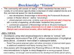 breckinridge vision