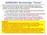 summary breckinridge vision