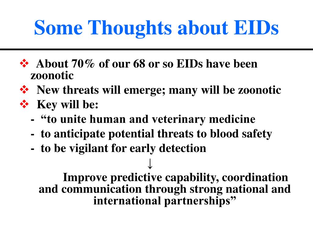 Some Thoughts about EIDs