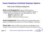career readiness certificate employer options