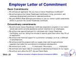 employer letter of commitment