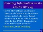 entering information on the osha 300 log41