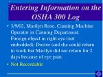 entering information on the osha 300 log44