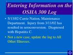 entering information on the osha 300 log47