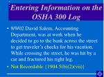 entering information on the osha 300 log54